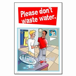 wschp1000-4 Water School Poster, Water quality poster, water conservation placard, water conservation sign, water quality sign, water conservation awareness