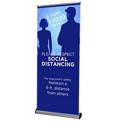000VPBNR-518 - Social Distancing - Banner Stand