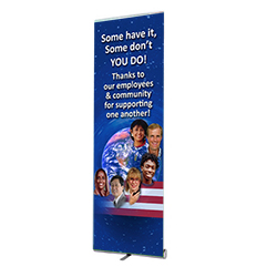 000VPBNR-600 - Thank You Banner Stand