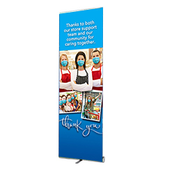 000VPBNR-620 - Virus Protection Banner Stand
