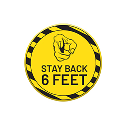 VPBTN-630 Stay Back 6 Feet, Social Distancing Button, Safety Incentive, Safety Promo Product, Safety Incentive, Safety Ideas, Safety Ad Specialities