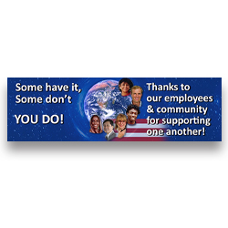 000VRBNR-715  10' x 3'  Employee Appreciaton Banner