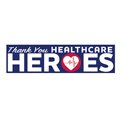 VRDecal-100 Thank You Healthcare Heroes Removable Bumper Sticker