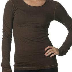 ai-va-twALOW3004 Women's Long Sleeve Bamboo Tee, Custom t-shirt, Eco Friendly t-shirt