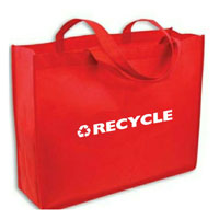 "AI-rhbag028-5 - Recycling Non Woven Basic Tote- 20""x15-1/2""x5"", Recycling Incentive, Recycling Promotional Ideas, Recycling Promo Gifts, Recycling Gifts for Tradeshows, recycling ad specialties"
