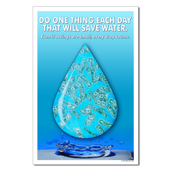 wp361 - Do one thing each day that will save Water Conservation Poster